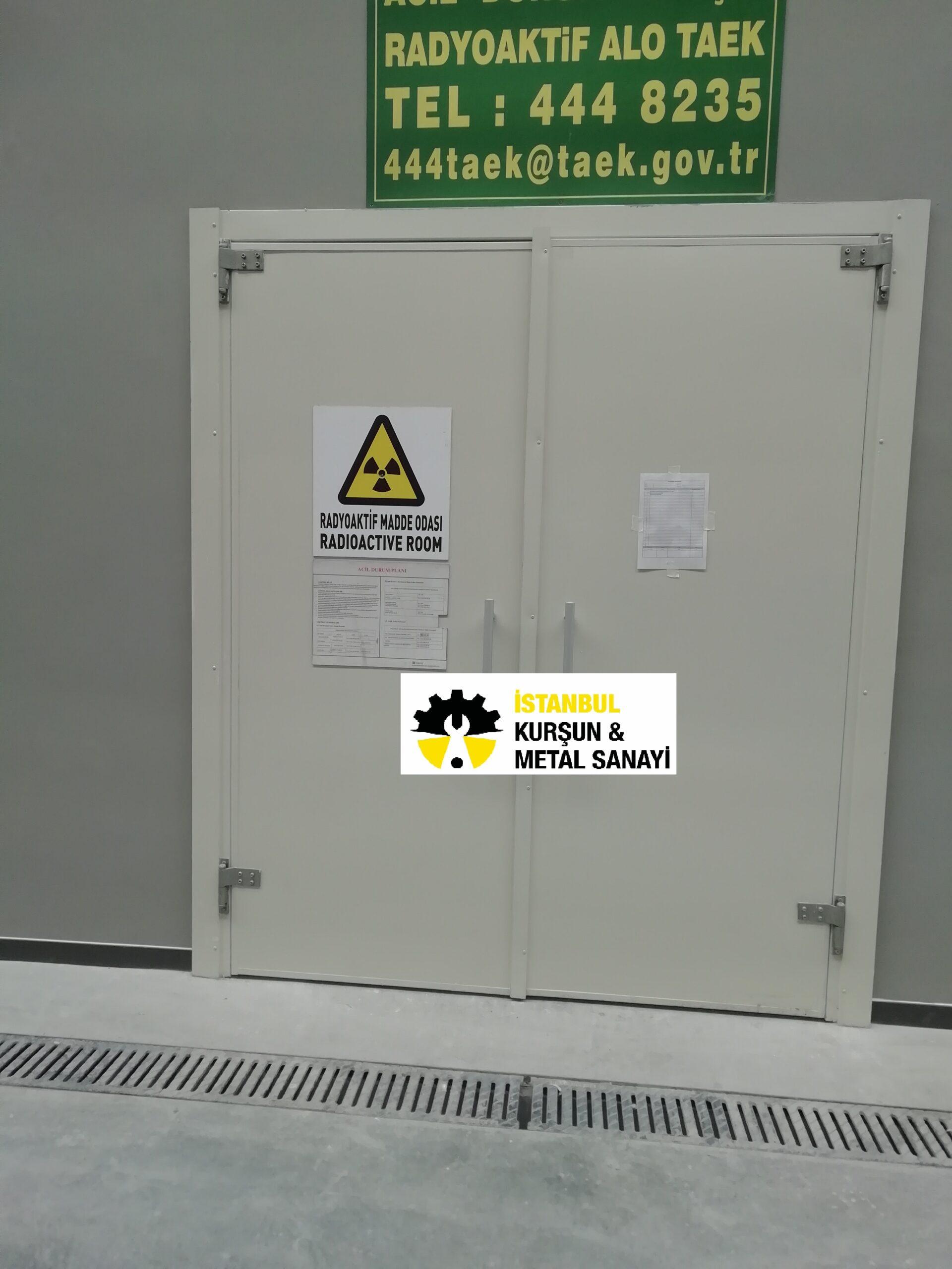 radyoaktif madde odasi kursun kapi