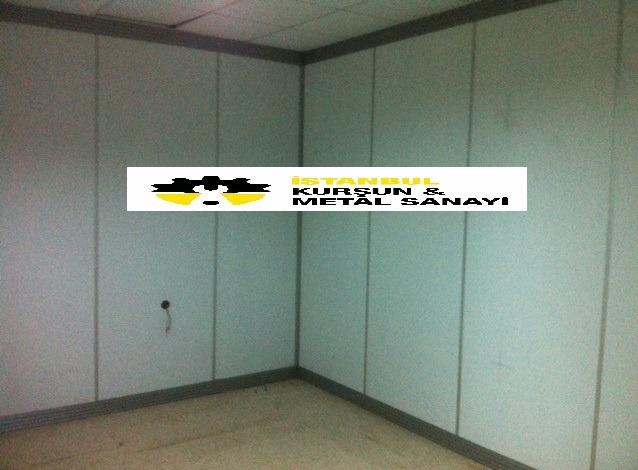 rontgen odasi kursunlu ahsap panel